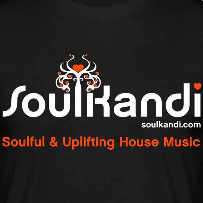 Soul Kandi T-Shirt White & Orange Print.