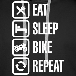 Eat - sleep - (motor)bike - repeat Sweaters - Mannen Premium hoodie
