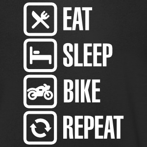 Eat - sleep - (motor)bike - repeat T-shirts - Mannen T-shirt met V-hals