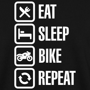 Eat -  sleep - (motor)bike - repeat Pullover & Hoodies - Männer Pullover