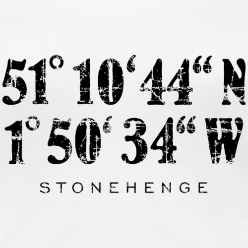 Stonehenge Koordinaten Vintage Schwarz