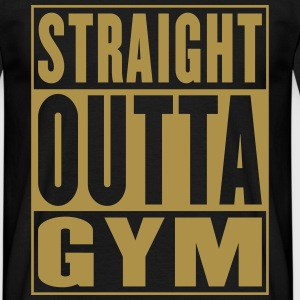 Straight Outta Gym Gold - Mannen T-shirt