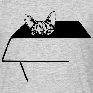 Cat in the Box T-shirts - Mannen T-shirt