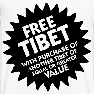 Free Tibet! T-Shirts - Men's V-Neck T-Shirt