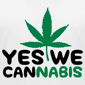 Yes we Cannabis! T-shirts - T-shirt med v-ringning dam