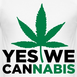 Yes We Cannabis! T-Shirts - Männer Slim Fit T-Shirt