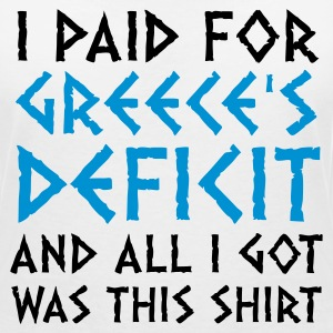 I paid Greece s debt! T-Shirts - Women's V-Neck T-Shirt