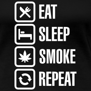 Eat - sleep - smoke - repeat T-shirts - Vrouwen Premium T-shirt