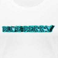 Motif ~ TSHIRT BLANC FEMME BLUE BERRY
