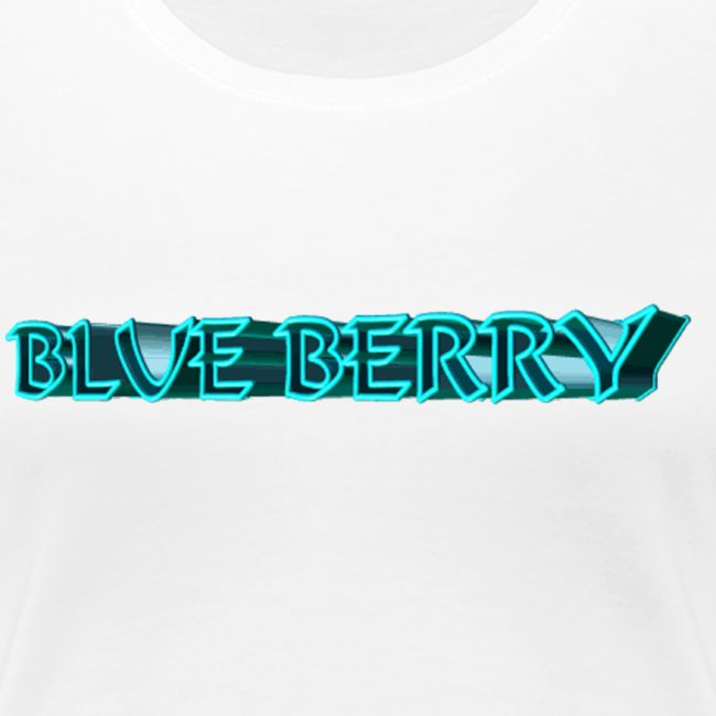 TSHIRT BLANC FEMME BLUE BERRY