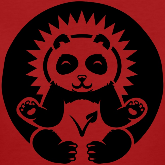 """Panda"" Bio-T-Shirt mit Flockdruck (w)"