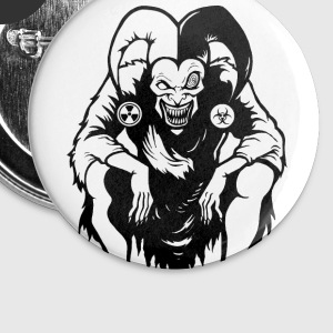 Horror Joker Buttons - Buttons large 56 mm