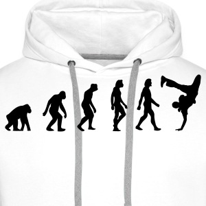L évolution de Breakdance Sweat-shirts - Sweat-shirt à capuche Premium pour hommes