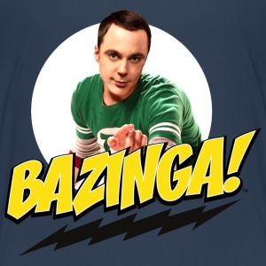The Big Bang Theory Sheldon Bazinga teenager Premi - Teenager Premium T-shirt