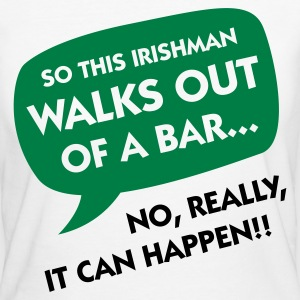 An Irishman leaving a bar ... T-Shirts - Women's Organic T-shirt