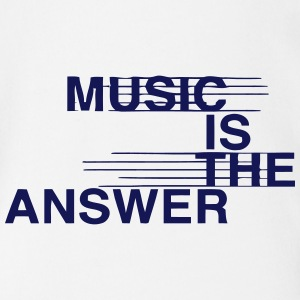 MUSIC IS THE ANSWER Babybody - Økologisk kortermet baby-body