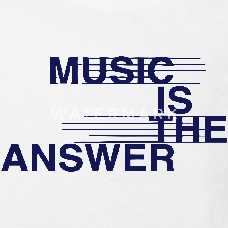 MUSIC IS THE ANSWER Shirts - Kinderen Bio-T-shirt
