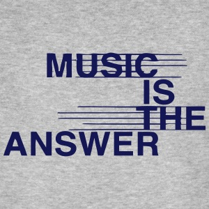 MUSIC IS THE ANSWER T-shirts - Mannen Bio-T-shirt