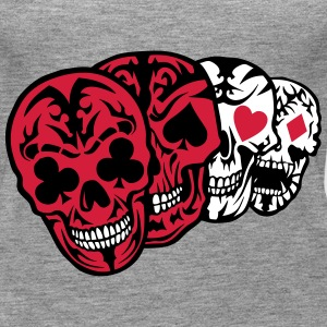 Skull poker card head dead heart Tops - Women's Premium Tank Top