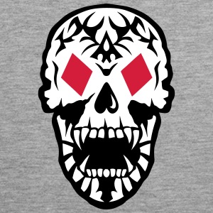 Dead Head Tile Poker Card skull  Sports wear - Men's Premium Tank Top