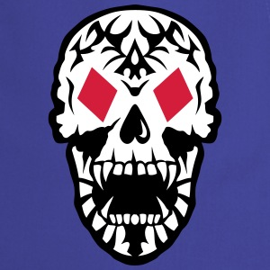 Dead Head Tile Poker Card skull   Aprons - Cooking Apron