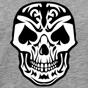 skull Poker Card Dead Head Spades Peak  T-Shirts - Men's Premium T-Shirt