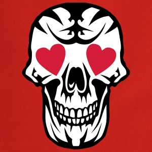 skull Heart Poker Card  Aprons - Cooking Apron