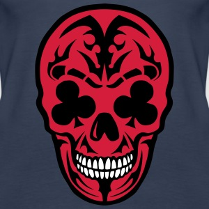 skull Dead Clover Poker Card Tops - Women's Premium Tank Top