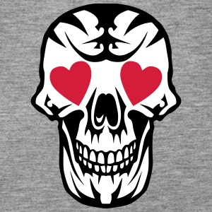 skull Heart Poker Card Tops - Women's Premium Tank Top