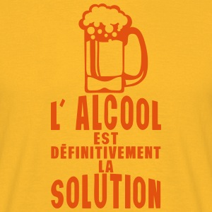 alcool definitivement solution biere Tee shirts - T-shirt Homme