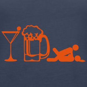 Glass apero beer sex position icon Tops - Women's Premium Tank Top