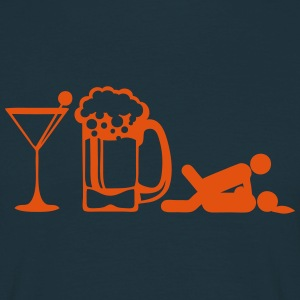 Glass apero beer sex position icon T-Shirts - Men's T-Shirt