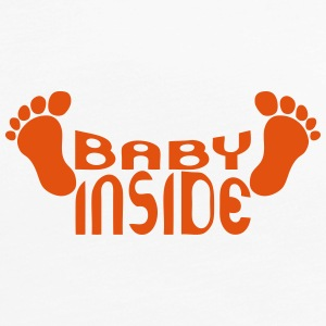 Baby inside foot logo pregnant Long Sleeve Shirts - Women's Premium Longsleeve Shirt