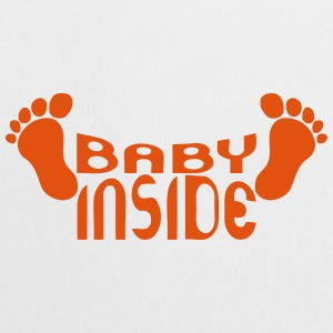 Baby inside foot logo pregnant  Aprons - Cooking Apron