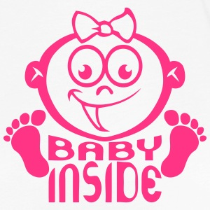 Baby inside head pregnant girl_16 Long Sleeve Shirts - Women's Premium Longsleeve Shirt