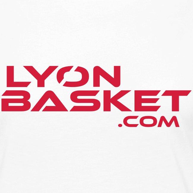T-shirt manches longues Femme blanc logo rouge