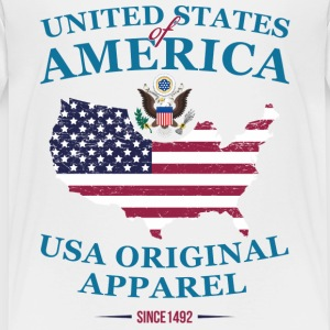 UNITED STATES OF AMERICA T-Shirts - Kinder Premium T-Shirt