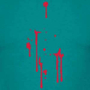 drops of blood splatter sore T-Shirts - Men's T-Shirt
