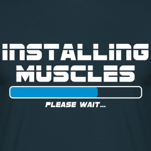 Installing Muscles T-Shirts - Herre-T-shirt