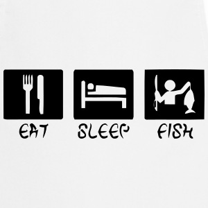 EAT - SLEEP - FISH Grembiuli - Grembiule da cucina