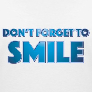 Don't forget to smile T-shirts - T-shirt med v-ringning dam
