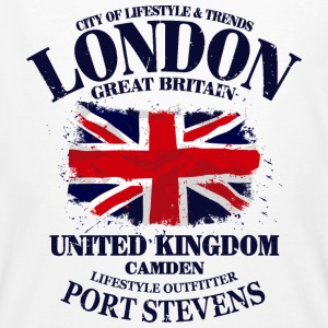 London - Union Jack Vintage Flag T-Shirts - Männer Bio-T-Shirt