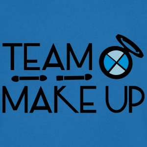 TEAM MAKE UP TEXT Men's V-Neck T-Shirt - Men's V-Neck T-Shirt