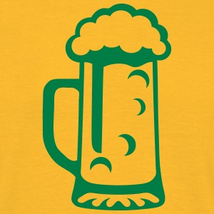 Beer glass alcohol foam 15092 T-Shirts - Men's T-Shirt