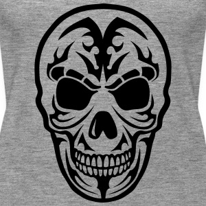 Skull Tribal head death 1509 Tops - Women's Premium Tank Top