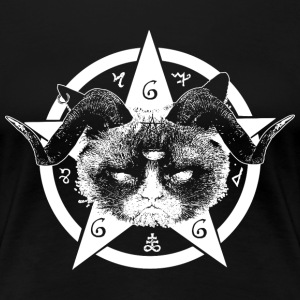 Grumpy Occult Cat T-Shirts - Women's Premium T-Shirt