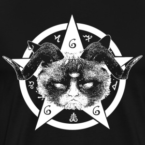 Grumpy Occult Cat T-shirts - Herre premium T-shirt