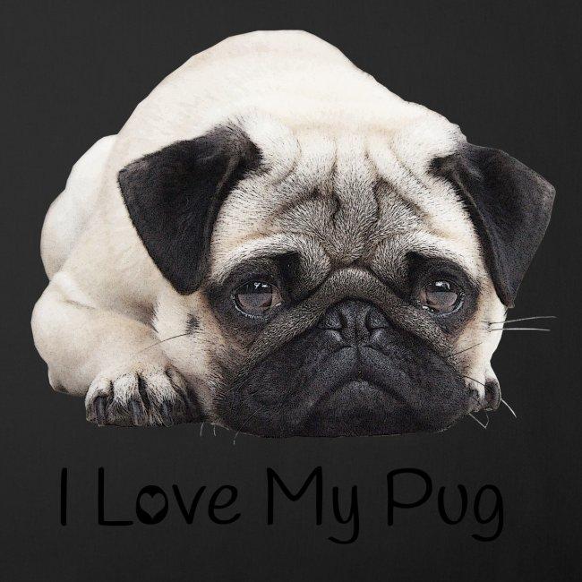 I Love My Pug Sofakissen