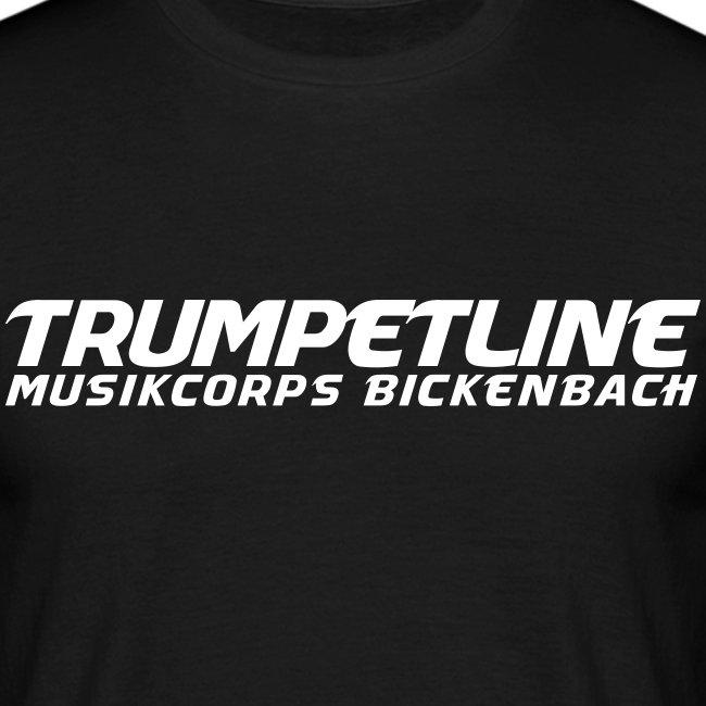 TRUMPETLINE T-SHIRT SCHWARZ