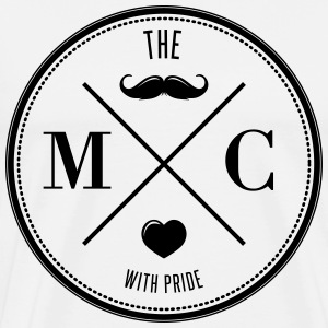 The Movember Moustache Club with pride T-shirts - Herre premium T-shirt